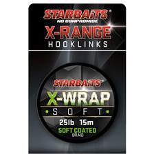 TRESSE GAINEE STARBAITS X WRAP SOFT COATED BRAID - 15M