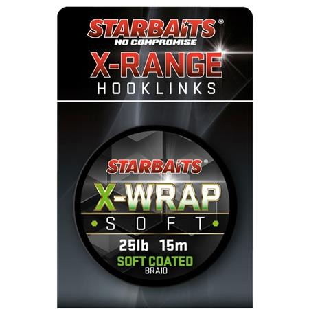 TRESSE GAINEE STARBAITS X WRAP SOFT COATED BRAID - 15M