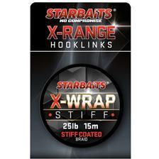 TRESSE GAINEE STARBAITS X WRAP STIFF COATED BRAID - 15M
