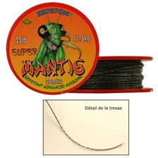 Tying Kryston TRESSE GAINEE SUPER MANTIS SUPER MANTIS 25 LBS CAMOU GOLD