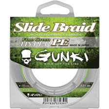 TRESSE GUNKI SLIDE BRAID 125 FLUO GREEN - 125M