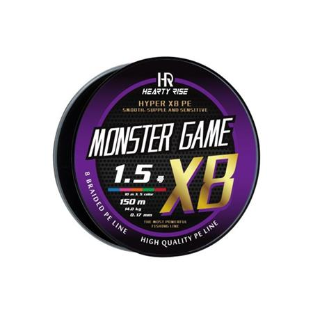 TRESSE HEARTY RISE MONSTER GAME X8 - 300M MULTICOLORE