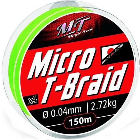TRESSE MAGIC TROUT MICRO T-BRAID VERT - 150M