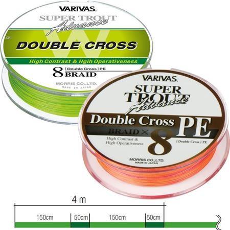 TRESSE MER VARIVAS SUPER TROUT DOUBLE CROSS PE - 92M