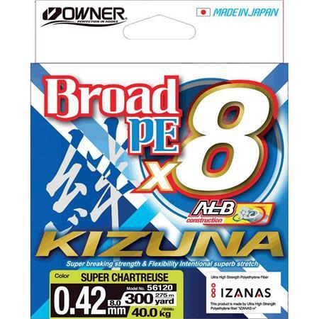 TRESSE OWNER KIZUNA X8 - CHARTREUSE - 135M
