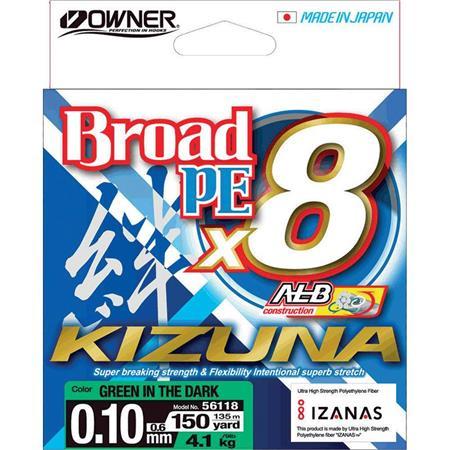 TRESSE OWNER KIZUNA X8 - GREEN - 135M