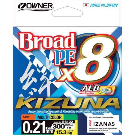 TRESSE OWNER KIZUNA X8 - MULTICOLORE - 300M
