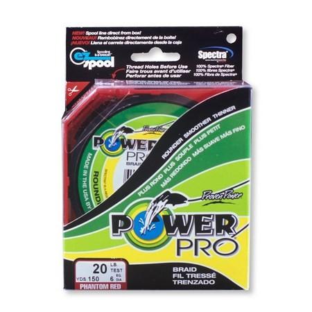 TRESSE POWER PRO 455M ET 1370M ROUGE
