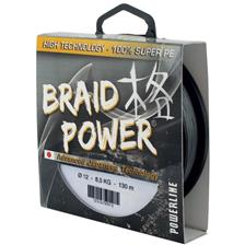 TRESSE POWERLINE BRAID POWER - GRIS - 1000M