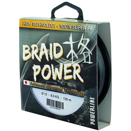 TRESSE POWERLINE BRAID POWER - GRIS - 130M