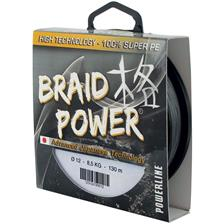 TRESSE POWERLINE BRAID POWER - GRIS - 250M