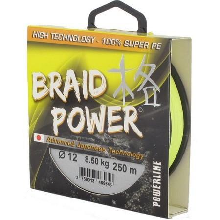TRESSE POWERLINE BRAID POWER - JAUNE - 1000M