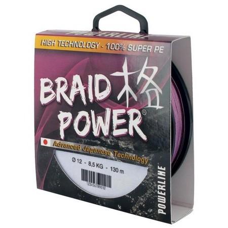 TRESSE POWERLINE BRAID POWER - MAUVE - 130M