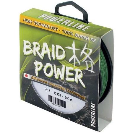 TRESSE POWERLINE BRAID POWER - VERT - 130M
