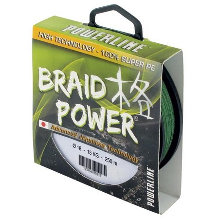 TRESSE POWERLINE BRAID POWER - VERT - 250M