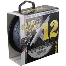 TRESSE POWERLINE BRAID POWER X12 GRIS