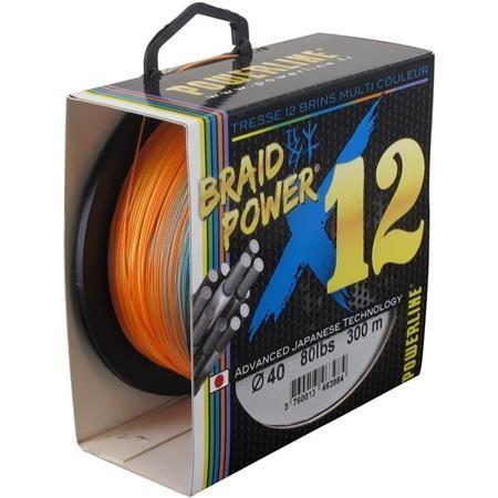 TRESSE POWERLINE BRAID POWER X12 MULTICOLOR