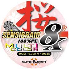 Lines Sakura SENSIBRAID 8 MULTICOLOR 300M 20/100