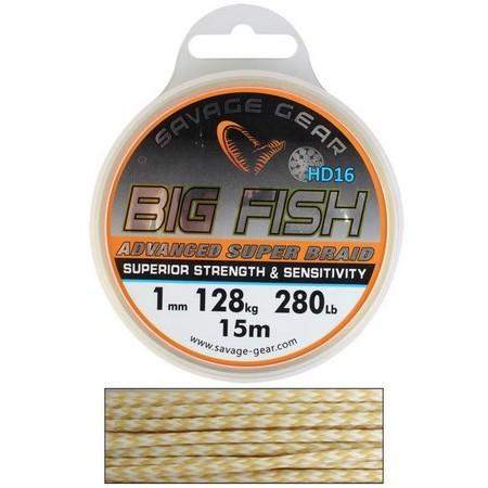 TRESSE SAVAGE GEAR BIG FISH HD16 BRAID - 15M
