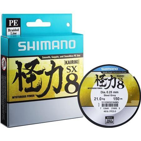 TRESSE SHIMANO KAIRIKI - GRIS - 150M