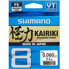 Lines Shimano KAIRIKI SX8 GRIS 150M SH64WS15006 - 10/100MM, 6.5KG