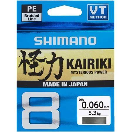 TRESSE SHIMANO KAIRIKI SX8 GRIS - 300M
