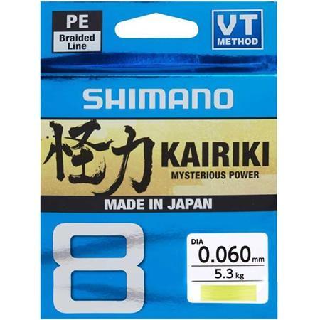 TRESSE SHIMANO KAIRIKI SX8 JAUNE - 150M