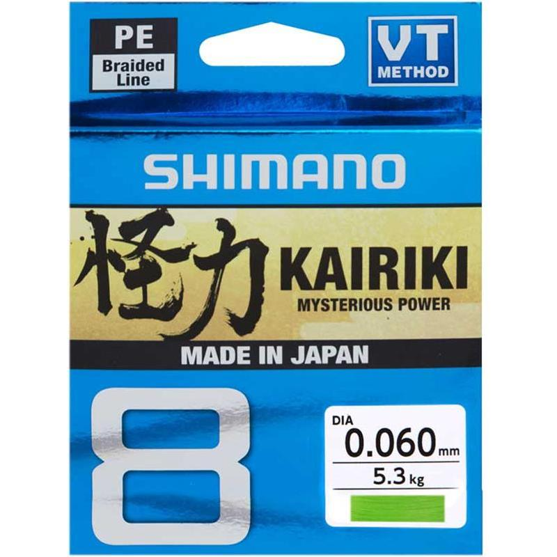TRESSE SHIMANO KAIRIKI SX8 VERT - 300M - SH64WG30019