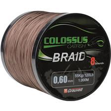 TRESSE SILURE COLOSSUS BRAID MARRON - 1000M