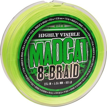 TRESSE SILURE MADCAT 8-BRAID - VERT