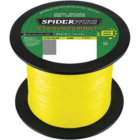 TRESSE SPIDERWIRE STEALTH SMOOTH 8 - JAUNE - 2000M