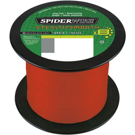 TRESSE SPIDERWIRE STEALTH SMOOTH 8 MOSS - ROUGE - 1800M