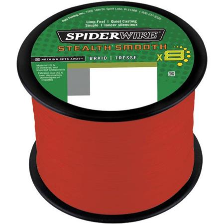 TRESSE SPIDERWIRE STEALTH SMOOTH 8 MOSS - ROUGE - 3000M