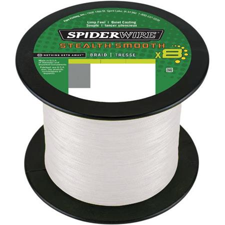 TRESSE SPIDERWIRE STEALTH SMOOTH 8 MOSS - TRANSLUCIDE - 1800M