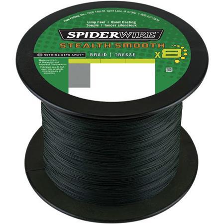 TRESSE SPIDERWIRE STEALTH SMOOTH 8 MOSS - VERT - 1800M