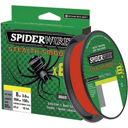 TRESSE SPIDERWIRE STEALTH SMOOTH 8 - ROUGE - 300M