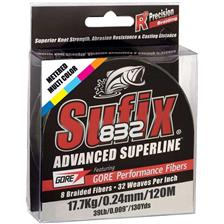 TRESSE SUFIX 832 ADVANCED SUPERLINE JAUNE - 120M