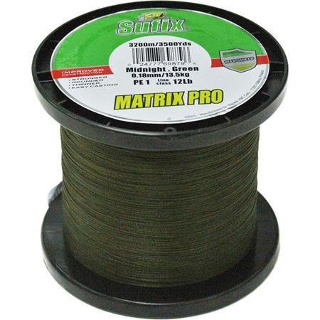 TRESSE SUFIX MATRIX PRO MID GREEN VERT - 3200M