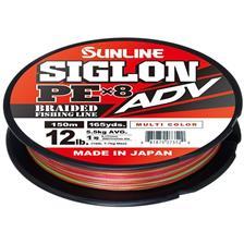 Lignes Sunline SIGLON BRAID PE ADV 8X MULTICOLOR 150M 20.9/100