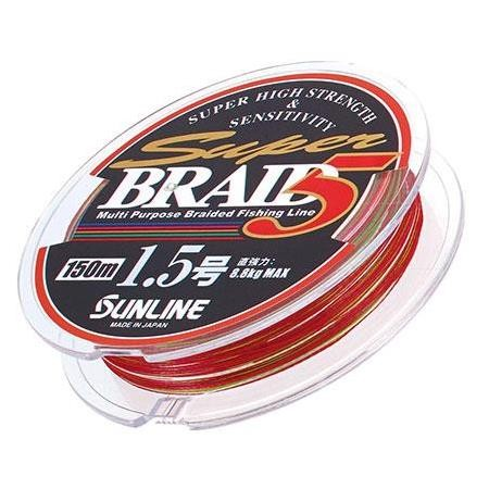 TRESSE SUNLINE SUPER BRAID 5 4 BRINS MULTICOLOR - 150M