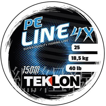 TRESSE TEKLON PE 4X LINE - VERT - 1000M