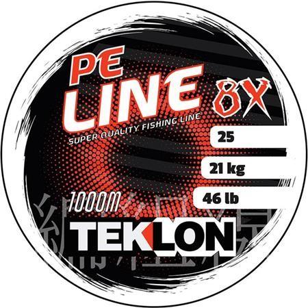 TRESSE TEKLON PE 8X LINE - GRIS - 300M