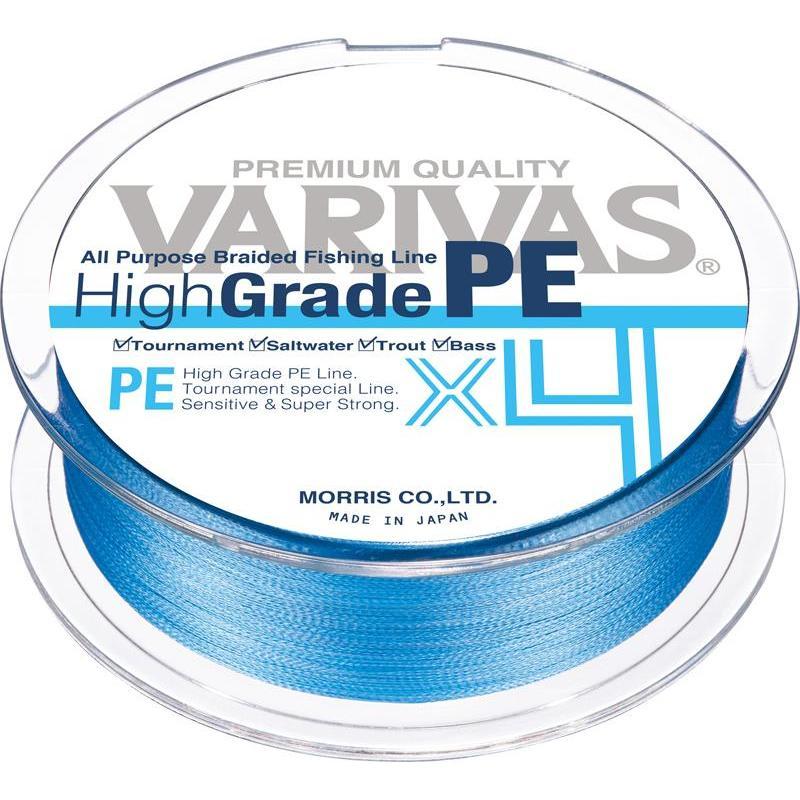 TRESSE VARIVAS HIGHGRADE PE - BLEUE - 150m - PE 0.8
