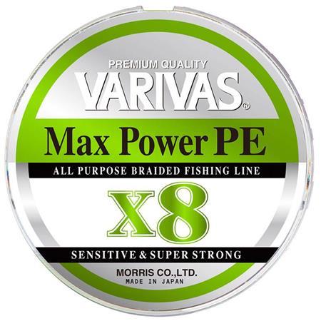 TRESSE VARIVAS MAX POWER PE X8 LIME GREEN - 150M