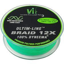 Lignes Vif ULTIM LINE CHARTREUSE 130M 12/100