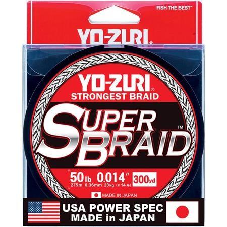 TRESSE YO-ZURI SUPERBRAID 4X VERT - 135M