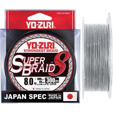 Lines Yo-Zuri SUPERBRAID 8X ARGENT 150M PE 0.8