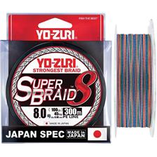 Lines Yo-Zuri SUPERBRAID 8X MULTICOLORE 300M PE 1.5