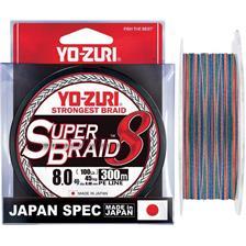 Lines Yo-Zuri SUPERBRAID 8X MULTICOLORE 300M PE 2.5