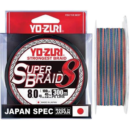 TRESSE YO-ZURI SUPERBRAID 8X MULTICOLORE - 300M